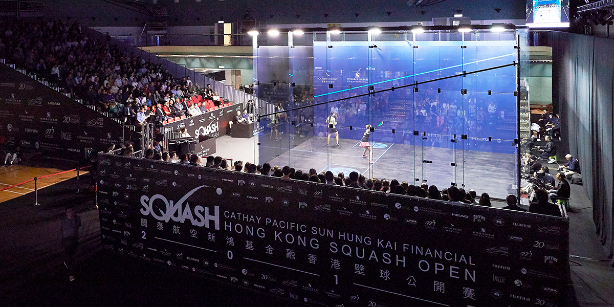 Image result for picture of Sun Hung Kai Hong Kong Squash Open 2018